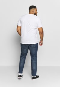 TOM TAILOR MEN PLUS - 5 POCKET  - Slim fit jeans - dark stone wash - 2