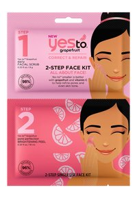 Yes To - YES TO GRAPEFRUIT 2-STEP FACE KIT 3 PACK - Face mask - - - 1