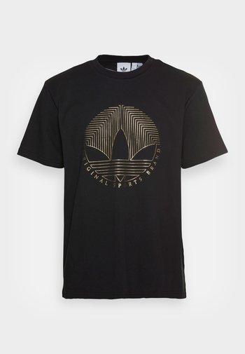 DECO TREFOIL - T-shirt con stampa - black