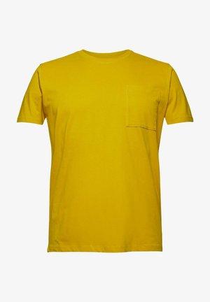 MIT TASCHE, ORGANIC COTTON - Basic T-shirt - yellow
