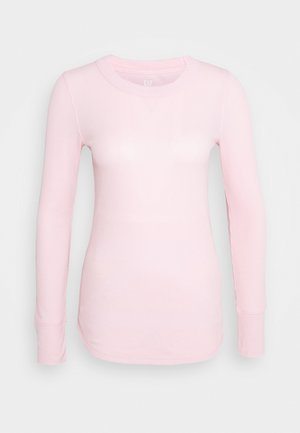WAFFLE TEE - Long sleeved top - pure pink