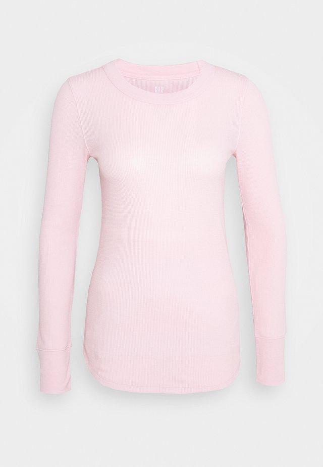 WAFFLE TEE - Pitkähihainen paita - pure pink