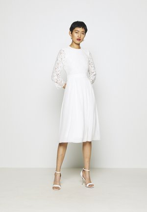 BRIDAL DRESS MIDI - Galajurk - snow white