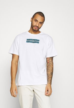 FRONT & BACK GRAPHIC OVERSIZED TEE - Triko s potiskem - white