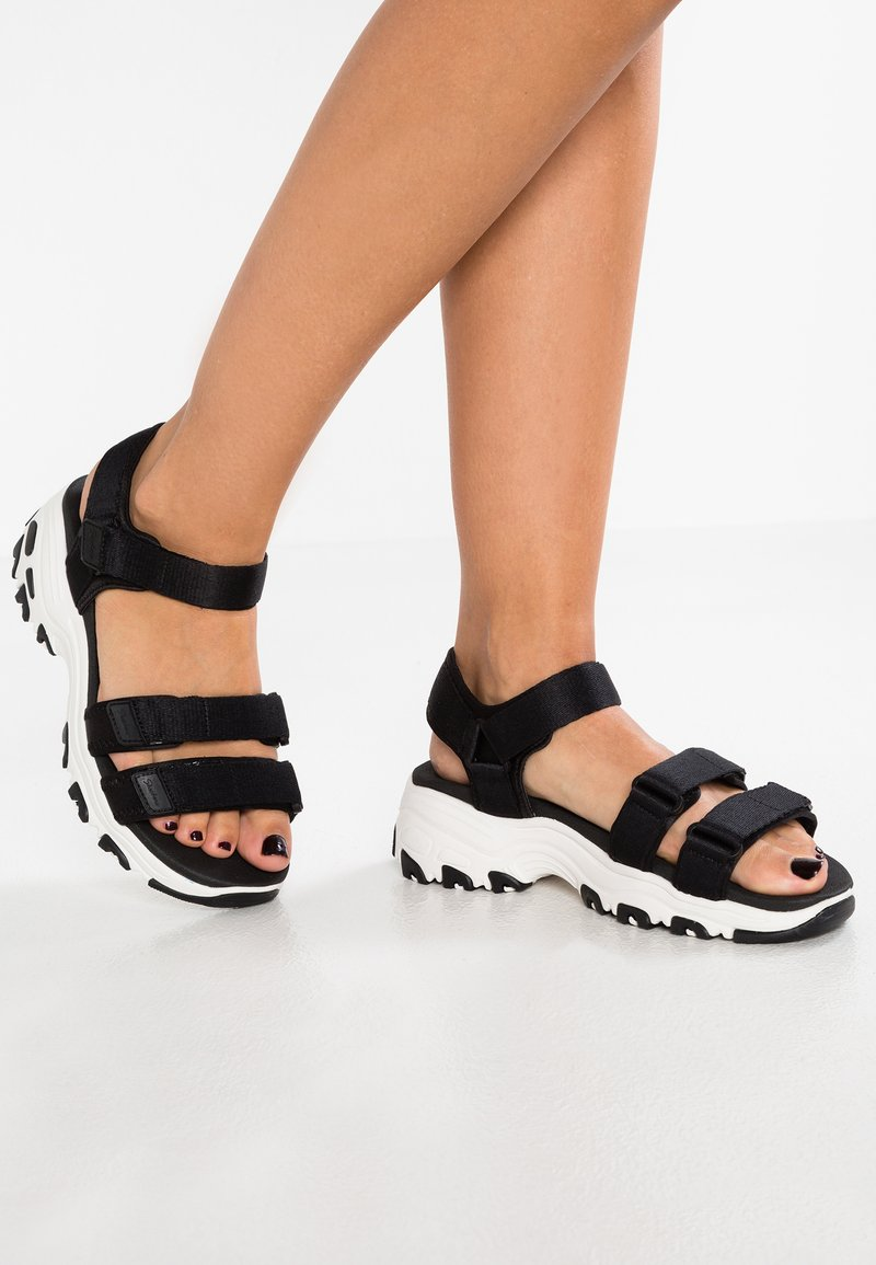 Skechers Sport - D'LITES - Walking sandals - black