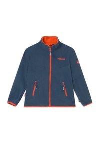 TrollKids - KIDS BRYGGEN JACKET UNISEX 2-IN-1 - Hardshell jacket - mystic blue/orange - 2