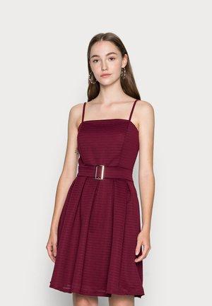 SALEEMA BUCKLE SKATER DRESS - Cocktail dress / Party dress - wine
