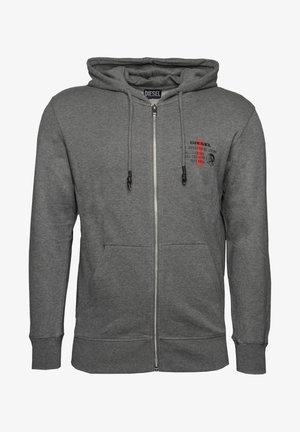BRANDON - Zip-up sweatshirt - dark grey melange