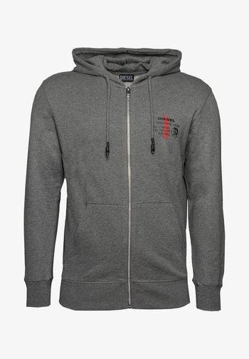 BRANDON - Zip-up hoodie - dark grey melange
