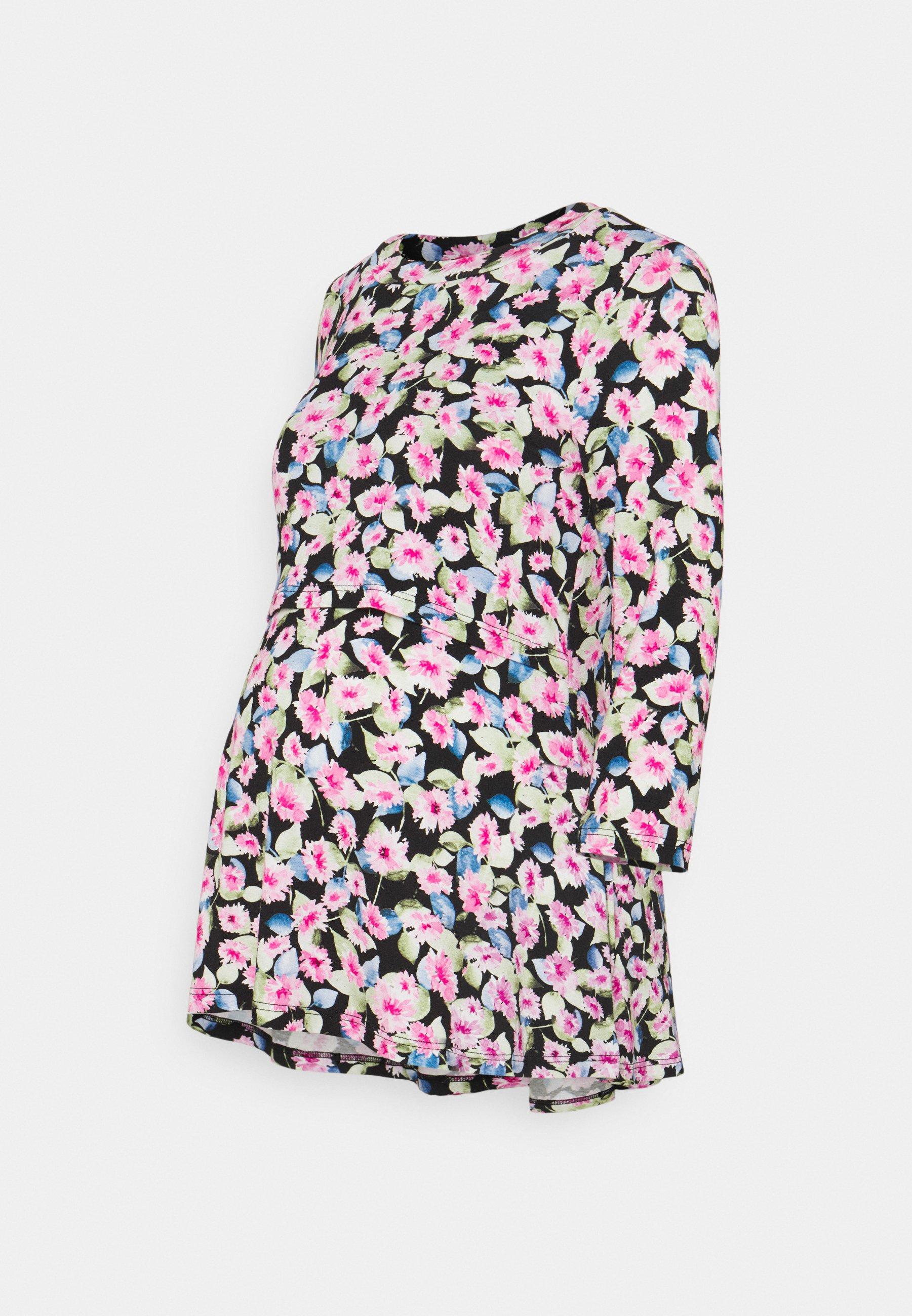 Women MLSARI JUNE  - Long sleeved top - black/pink