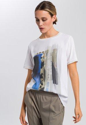Print T-shirt - white varied