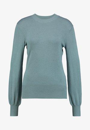 BALLON SLEEVE CREW NECK - Stickad tröja - goblin blue