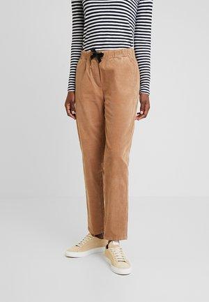 PANTS JOGGER STYLE RISE FIT TAPE - Trousers - moose caramel