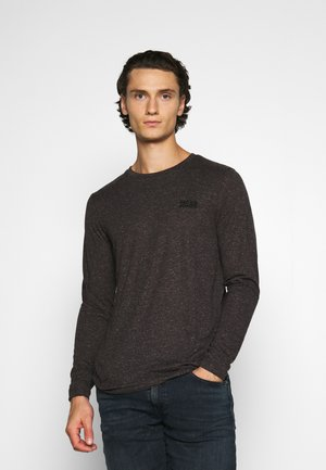 JJADAM TEE CREW NECK - Long sleeved top - dark grey melange/tundra melange