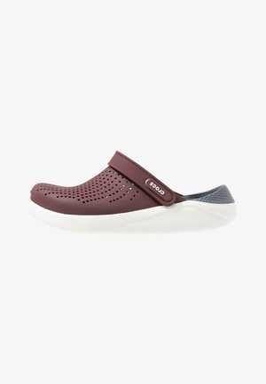 LITERIDE UNISEX - Clogs - burgundy/white