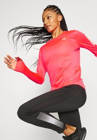 adidas Performance - SPORTS RUNNING LONG SLEEVE - Sports shirt - signal pink - 3