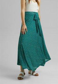 Esprit - Maxi skirt - teal green - 3