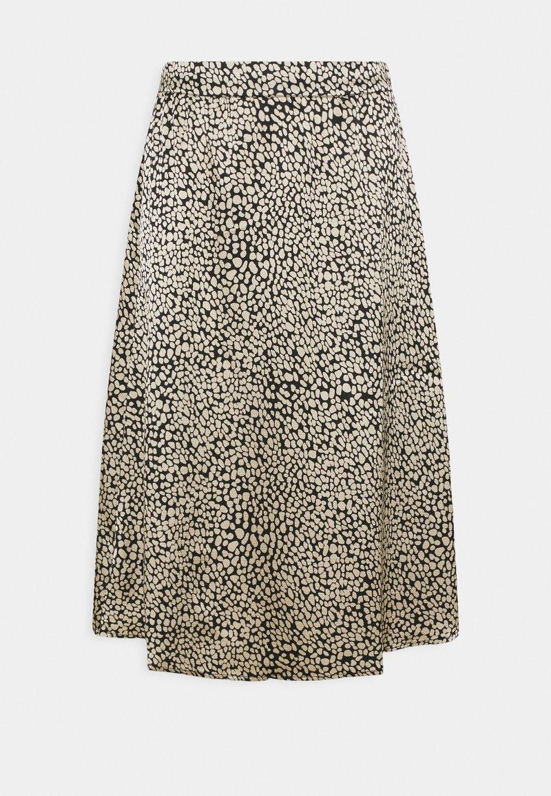 Moss Copenhagen - KATINKA SKIRT - Áčková sukně - black/beige
