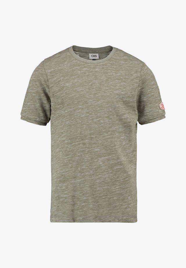 YARNESI - Basic T-shirt - wash khaki