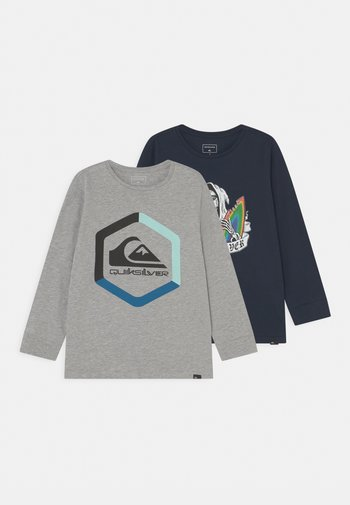 HARD BOLD TEE YOUTH 2 PACK - Maglietta a manica lunga - athletic heather/navy blazer