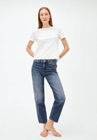 ARMEDANGELS - FJELLAA CROPPED - Straight leg jeans - used blue - 1