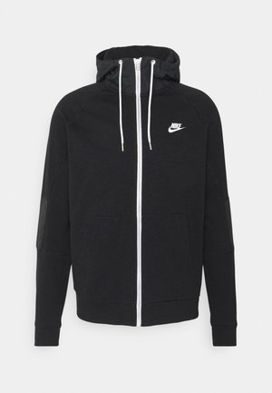Zip-up hoodie - black/ice silver/white