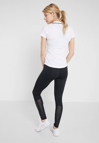Lacoste Sport - Leggings - black/white - 2