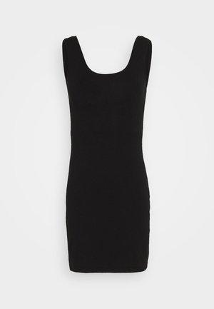 BASIC JERSEYKLEID - Pouzdrové šaty - black