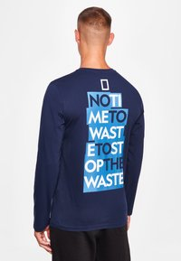 National Geographic - MIT PRINT - Long sleeved top - navy - 1