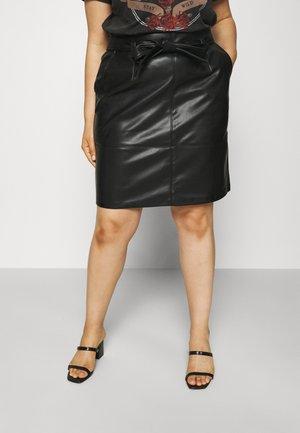 CARSARA FAUX SKIRT - Spódnica trapezowa - black