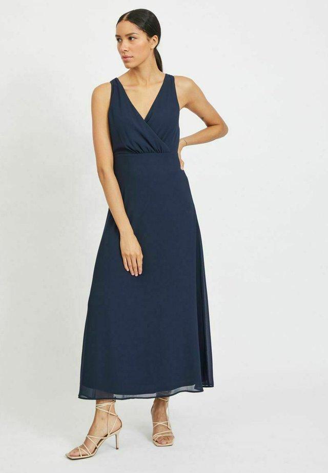 Długa sukienka - navy blazer