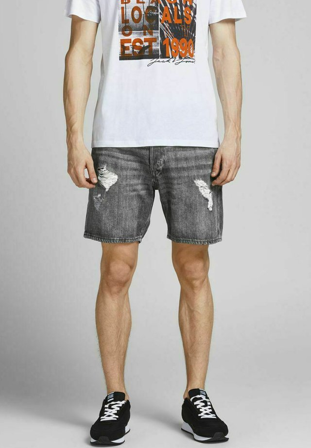 Shorts di jeans - black denim