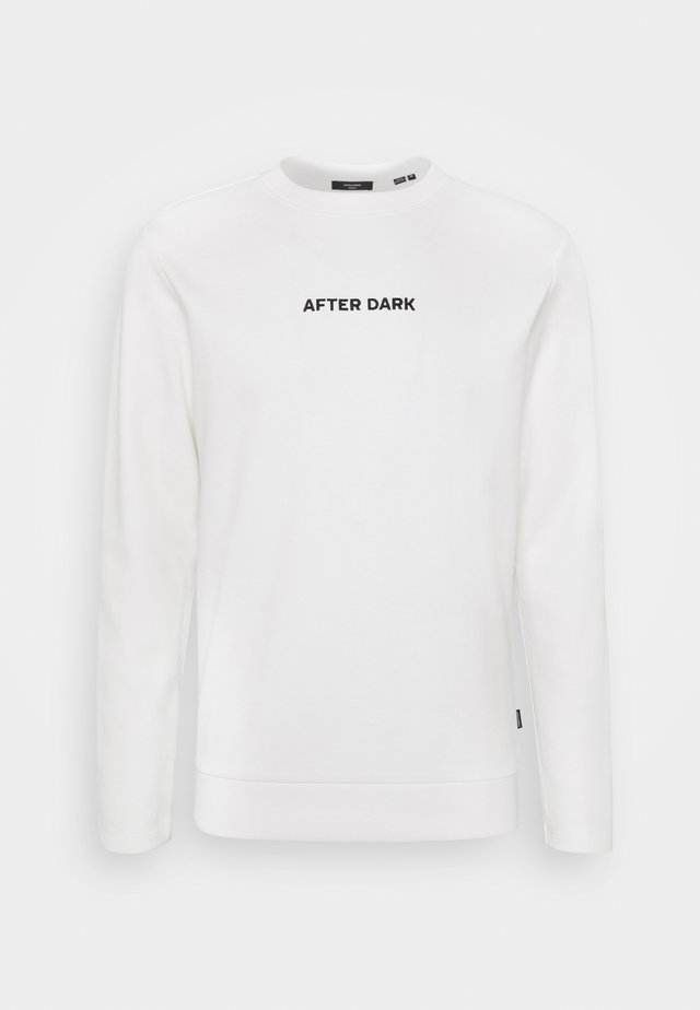 JPRBLADEAN CREW NECK - Sweatshirt - blanc de blanc