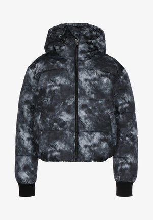 Winter jacket - cloud print