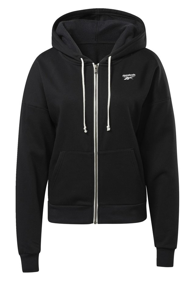 TRAINING ESSENTIALS FULL-ZIP HOODIE - Zip-up hoodie - black