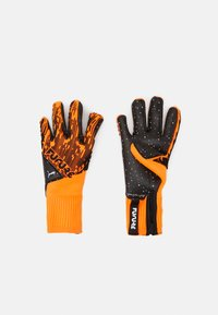 Puma - FUTURE GRIP HYBRID UNISEX - Goalkeeping gloves - shocking orange/black/white - 0