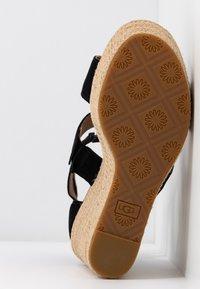 UGG - KOLFAX - Sandály na vysokém podpatku - black - 6