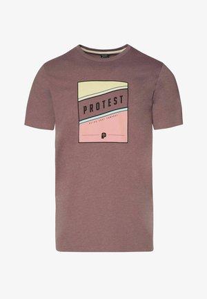 T-shirt print - marron fabric