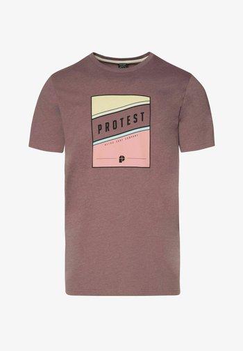 Print T-shirt - marron fabric