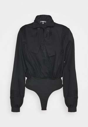 INSERT PUSSY BOW BODYSUIT - Camicetta - black