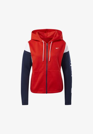 TRAINING ESSENTIALS LOGO HOODIE - Collegetakki - red