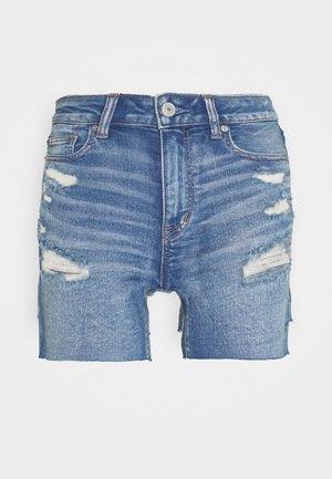 SHORTIE - Denim shorts - medium bright indigo
