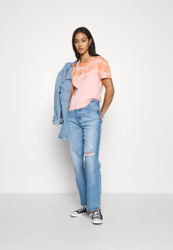 Tommy Jeans SUMMER TIE DYE TEE - T-shirt z nadrukiem - sweet peach/multi Nadruk Odzież Damska KIUU MP 9
