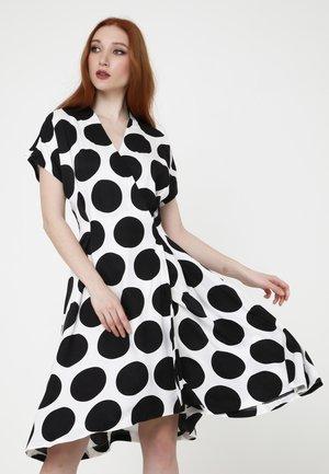 RACHEL - Day dress - weiß schwarz