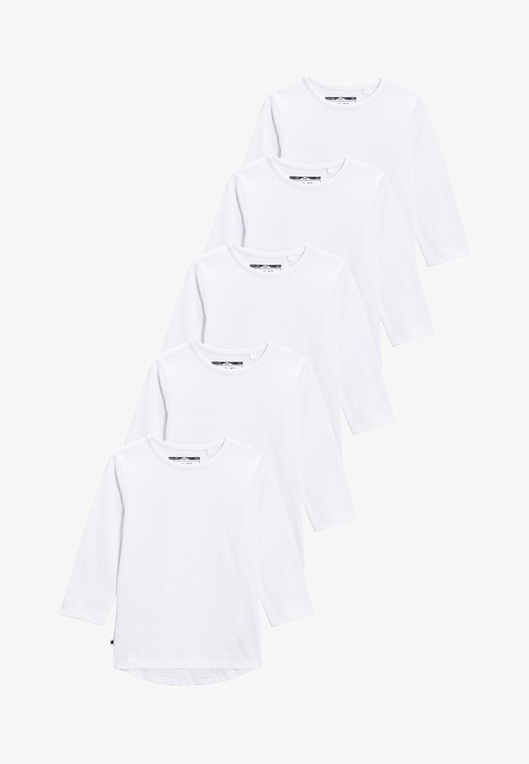 Next - FIVE PACK - Long sleeved top - white