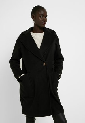 CARLY BRUSHED - Classic coat - black