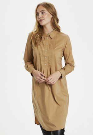 Shirt dress - tannin