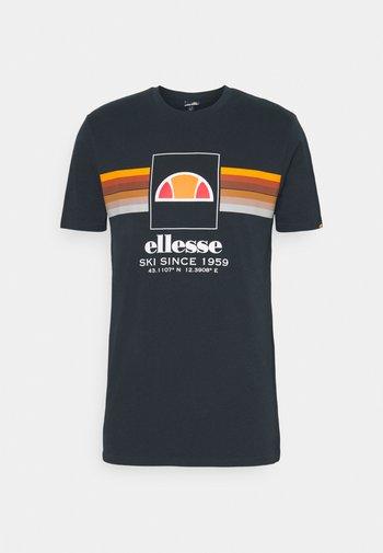 COLO - Print T-shirt - navy