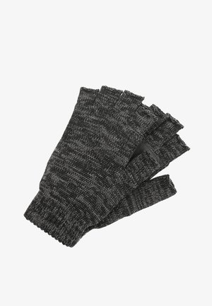 Fingerless gloves - black twist