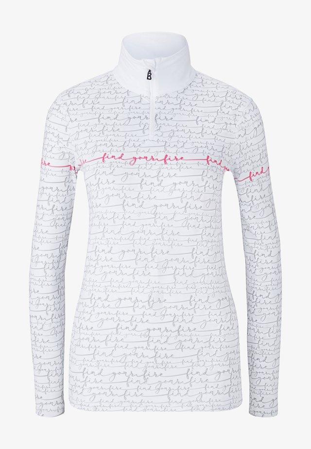 Long sleeved top - weiß/grau